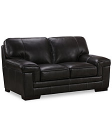 "Myars 69"" Leather Loveseat"