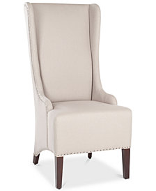 Becall 20''H Linen Dining Chair - Flat Nail Heads, Quick Ship