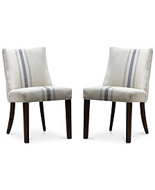 Gibsen Set of 2 Dining Chairs, Quick Ship
