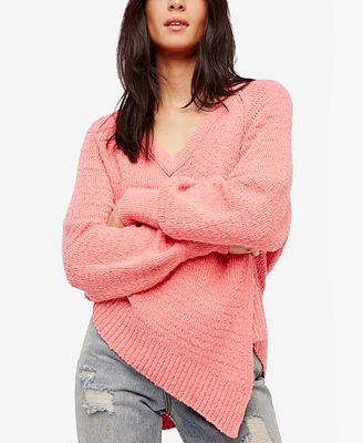 Free People West Coast Cotton Asymmetrical Sweater