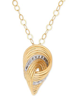Italian gold textured knot pendant necklace in 14k gold necklaces italian gold textured knot pendant necklace in 14k gold aloadofball Image collections