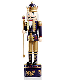 "Holiday Lane 17"" Wood Musical Soldier Nutcracker, Created for Macy's"