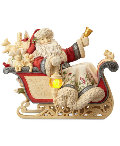 Enesco Heart Of Christmas Masterpiece Santa With Sleigh Figurine