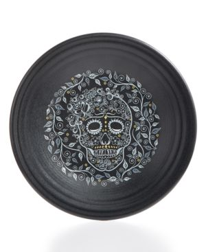 Fiesta Skull and Vine Luncheon Plate