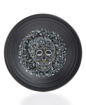 Fiesta Skull and Vine Luncheon Plate (black)