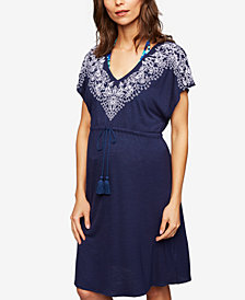 A Pea In The Pod Maternity Embroidered Swim Cover-Up