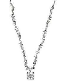 Arabella Swarovski Zirconia Pendant Necklace in Sterling Silver