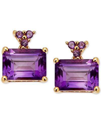 Amethyst Drop Earrings (2-1/3 ct. t.w.) in 14k Gold