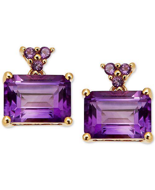 Macy's Amethyst Drop Earrings (2-1/3 ct. t.w.) in 14k Gold