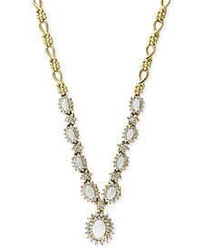 EFFY® Opal (2-1/4 ct. t.w.) & Diamond (2 ct. t.w.) Statement Necklace in 14k Gold