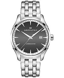 Men's Swiss Jazzmaster Stainless Steel Bracelet Watch 40mm