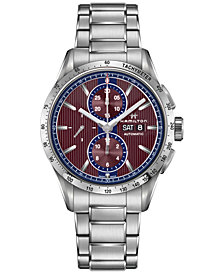 Hamilton Men's Swiss Automatic Chronograph Broadway Stainless Steel Bracelet Watch 40mm