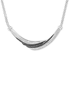 Diamond Statement Necklace (1/2 ct. t.w.) in Sterling Silver