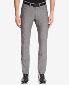 BOSS Men's Slim-Fit Chambray Stretch Jeans