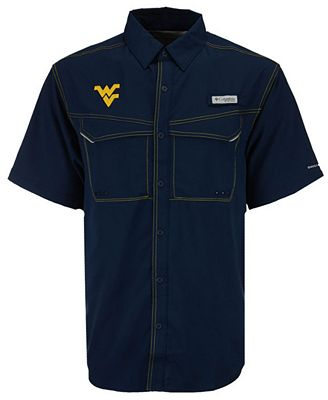 Columbia Men's West Virginia Mountaineers Low Drag Off Shore Button Up Shirt