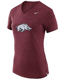 Nike Women's Arkansas Razorbacks Fan V Top T-Shirt