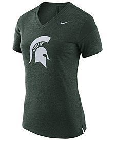 Nike Women's Michigan State Spartans Fan V Top T-Shirt
