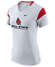 Nike Women's Ball State Cardinals Fan V Top T-Shirt