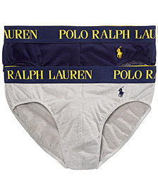 Polo Ralph Lauren Men's 2 Pack Ultra-Soft Cotton Comfort Blend Briefs