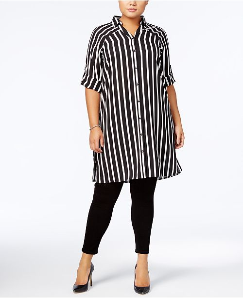 Alfani Plus Size Tunic Blouse, Created for Macy\'s & Reviews ...