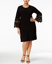 71d1c1117a8 Alfani Plus Size Lace-Sleeve A-Line Dress