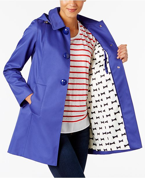 ba5a835c8a69 kate spade new york A-Line Raincoat   Reviews - Coats - Women - Macy s