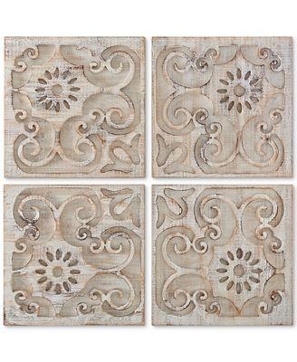 Wood Panel Wall Art graham & brown moroccan 4-pc. light wood panel wall art - wall art