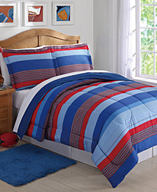 Laura Hart Kids Sebastian Reversible 2-Pc. Stripe Twin Comforter Set