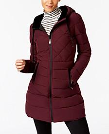INC Velvet-Trim Puffer Coat, Created for Macy's