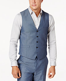 I.N.C. Men's Chambray Suit Vest, Created for Macy's