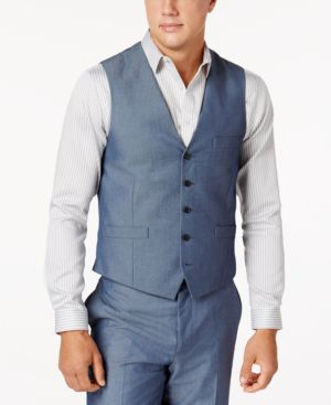 Inc International Concepts Men's Chambray Suit Vest, Created for Macy's thumbnail