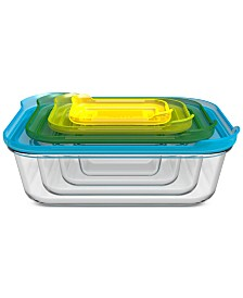 Joseph Joseph 8-Pc. Nesting Glass Container Set