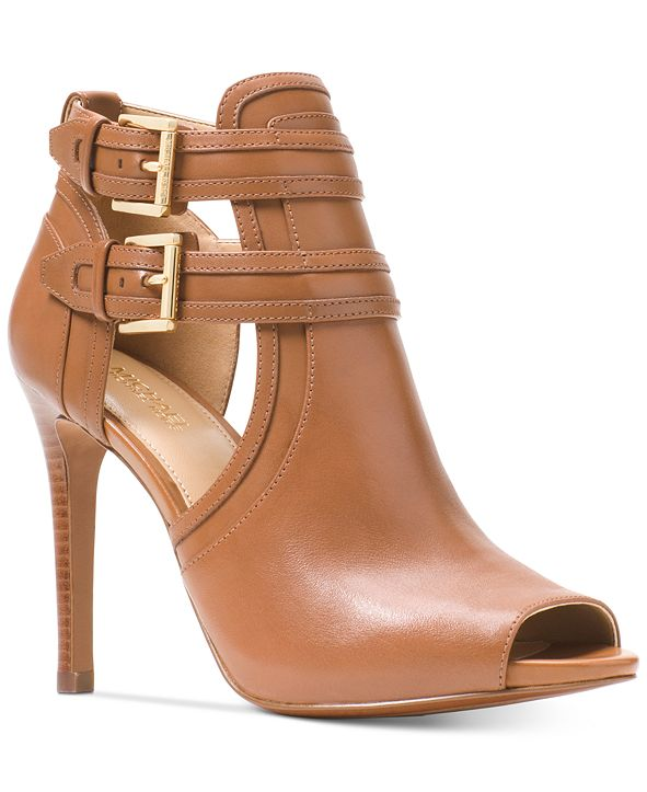 Michael Kors Blaze Peep-Toe Dress Booties