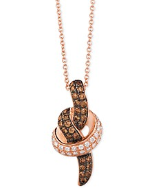 Chocolatier® Diamond Pendant Necklace (1/2 ct. t.w.) in 14k White or Rose Gold