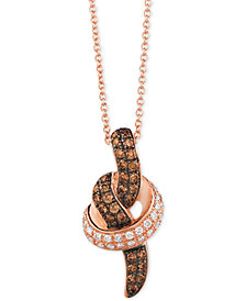Le Vian Chocolatier® Diamond Pendant Necklace (1/2 ct. t.w.) in 14k White or Rose Gold