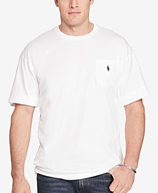 Men's Big & Tall Crew-Neck Pocket T-Shirt