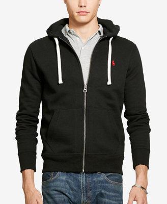 Polo Ralph Lauren Men's Hoodie, Core Full Zip Hooded Fleece ...