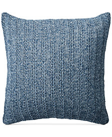 "Lauren Ralph Lauren Graydon Melange Knit 18"" Square Decorative Pillow"