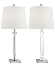 Pacific Coast Set of 2 Crystal and Chrome Table Lamps
