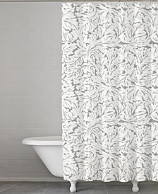"Kassatex Foglia Cotton 72"" Square Shower Curtain"