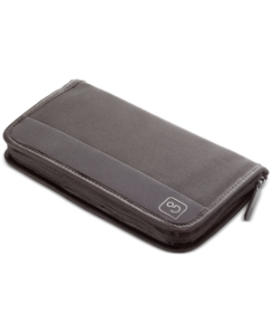 There\'s room for more inside this Go Travel travel wallet, with 11 pockets protected inside a zip-around closure.
