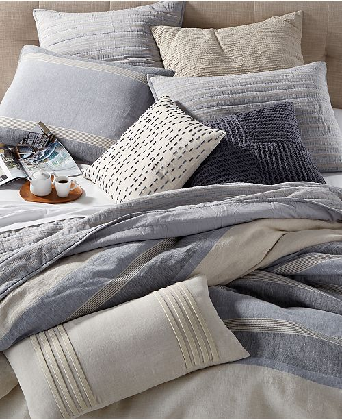 Hotel Collection Linen Stripe Bedding Collection, Created