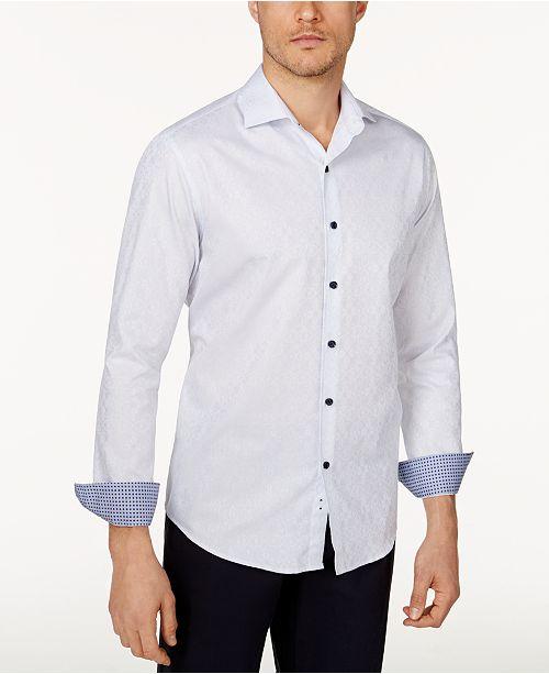Tasso Elba Men's Stretch Medallion-Print Shirt, Created for Macy's