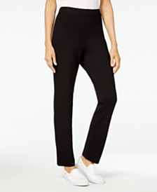 Karen Scott Petite Comfort Pull-On Pants, Created for Macy's