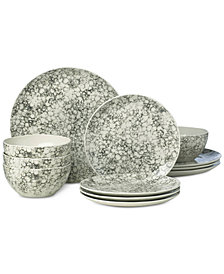 Lenox Pebble Cove Collection 12-Piece Dinnerware Set, Service for 4