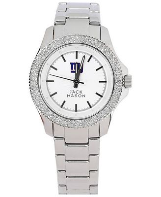 Jack Mason Women's New York Giants Glitz Sport Bracelet Watch