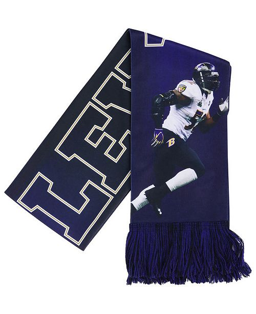 Forever Collectibles Ray Lewis Baltimore Ravens Sublimated Player Scarf