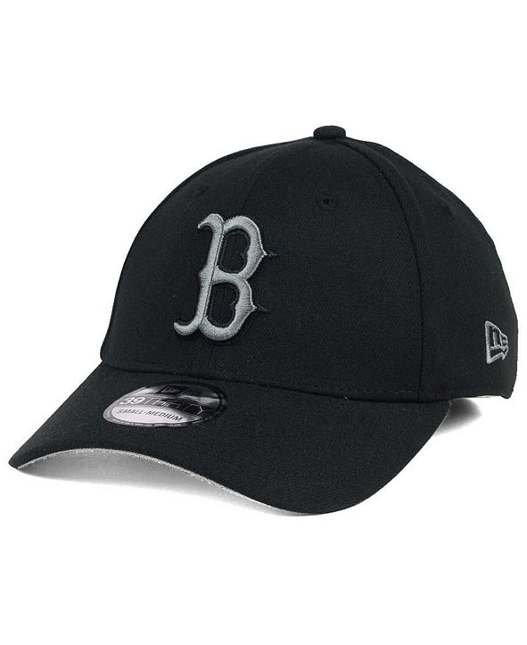 New Era Boston Red Sox Black and Charcoal Classic 39THIRTY Cap