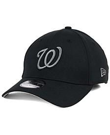 Washington Nationals Black and Charcoal Classic 39THIRTY Cap