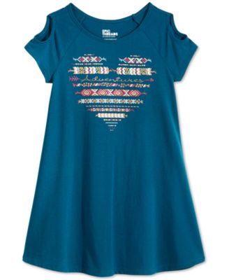 Image of Epic Threads Adventures Cold-Shoulder Dress, Toddler & Little Girls (2T-6X), Created for Macy's